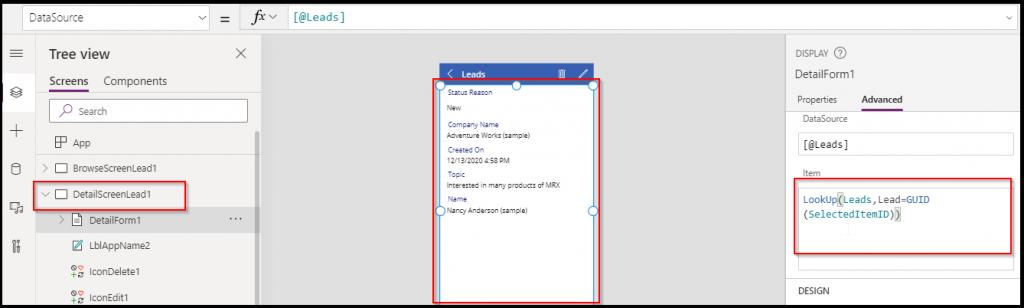detail screen lead