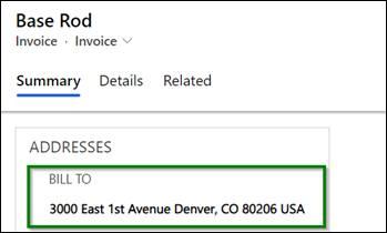 invoice address