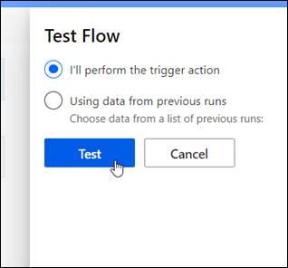 test flow