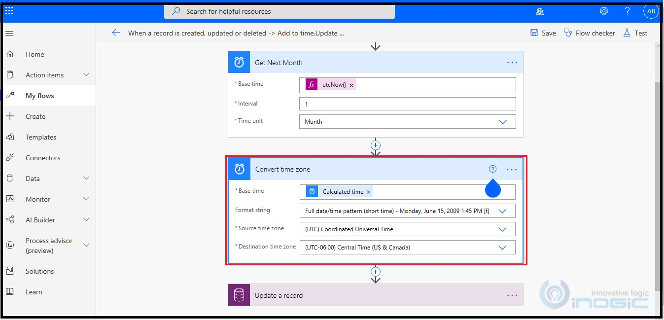 Find next month and previous month using Microsoft flow
