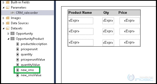 get specific Row values from dataset of Fetch XML based Report