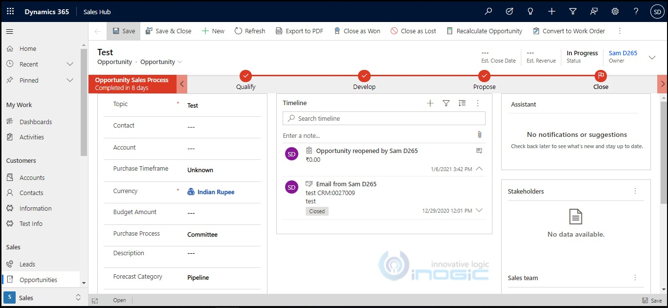 manage header and footer of the form in dynamics 365