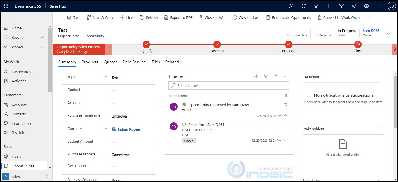 Managing header and footer of the form in Dynamics 365