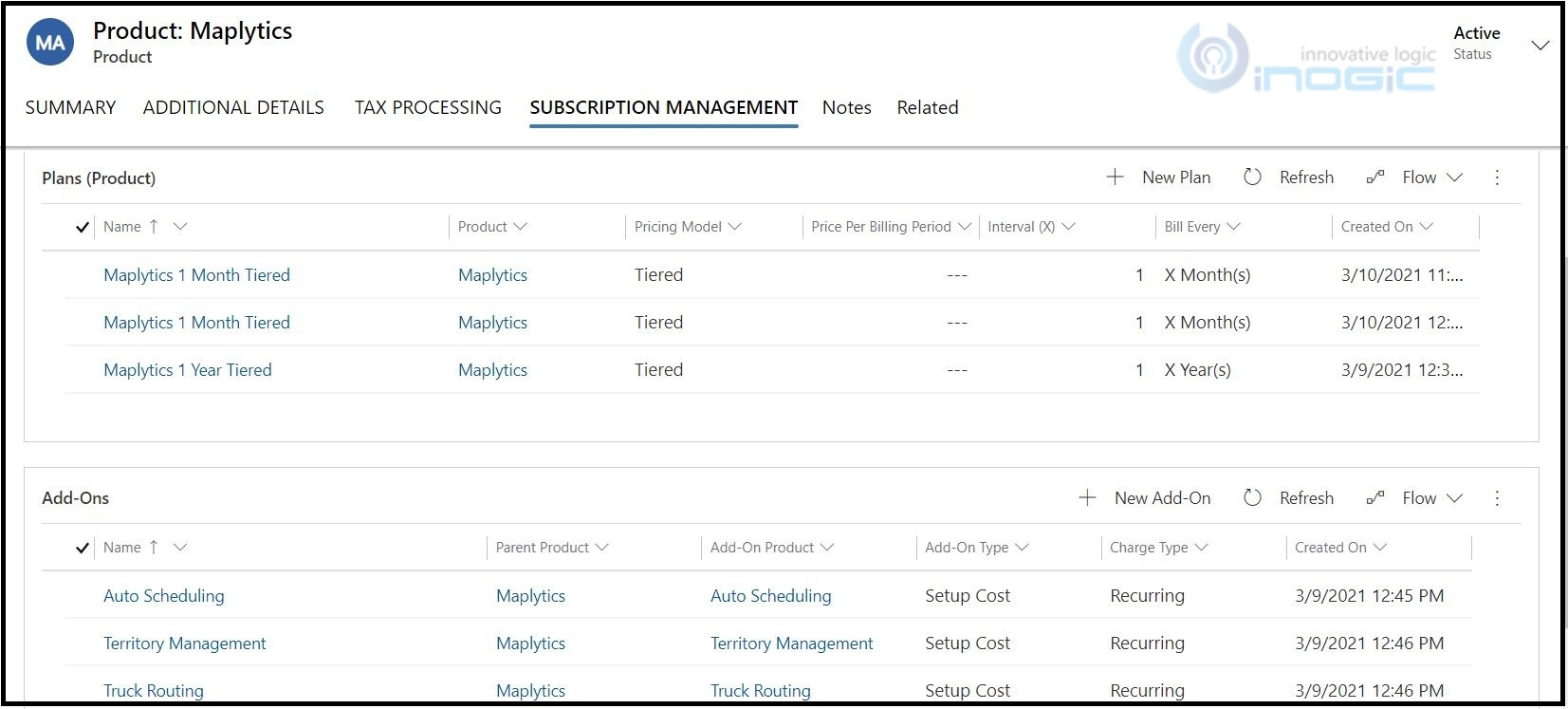 Manage subscriptions Billing tax Calculations in dynamics 365 crm