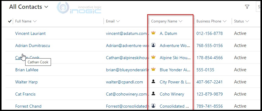Retrieve data and display icons to Dynamics 365 view columns