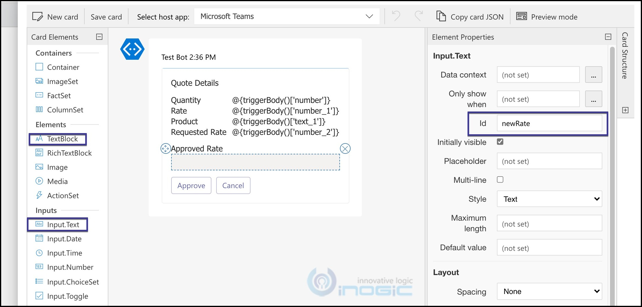 Actionable messages in MicrosoftTeams with Adaptive Cards