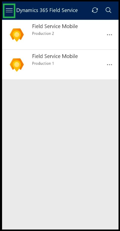 Show Non-Production apps within Field Service (Dynamics 365) mobile app