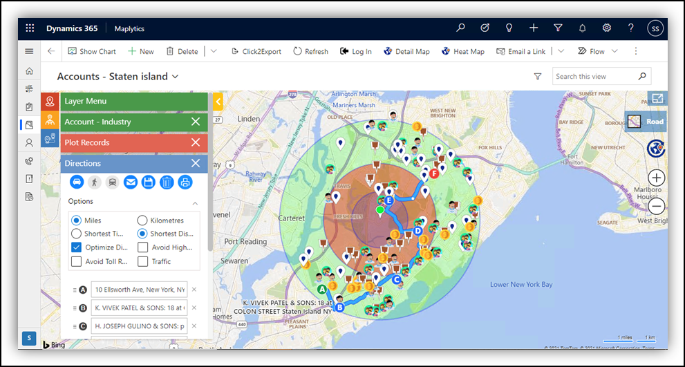 Real time Field reps tracking, Land area mapping