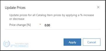 Bulk Update Pricing