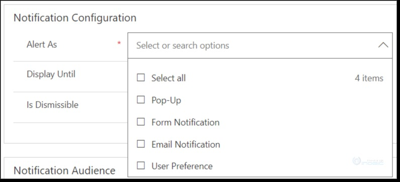 Alerts Notifications within Dynamics 365 CRM