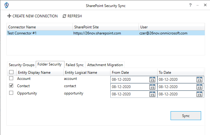 Dynamics 365 Sharepoint Security